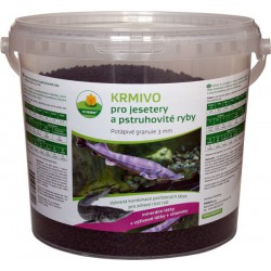 Potápivé krmivo pro jesetery a pstruhovité ryby 2 l