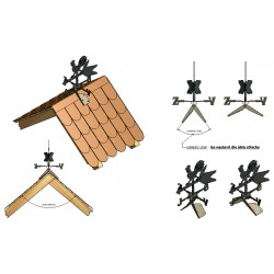 Větrný kohout velký - na hřeben střechy - SN