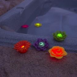 Párty světlo plovoucí Květina 3Ks
