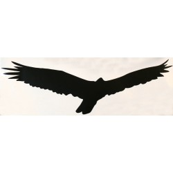 HARMONY silueta dravec černá  -  samolepící fólie  - 340 mm