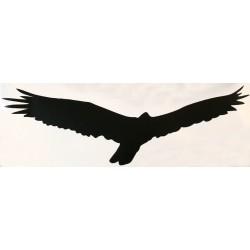 HARMONY silueta dravec černá  -  samolepící fólie  - 490 mm