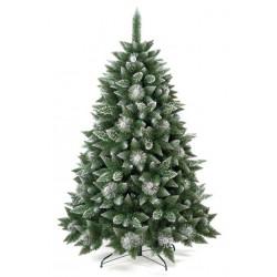 Umělá vánoční borovice s šiškami - stříbrná 150 cm