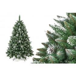 Umělá vánoční borovice s šiškami - stříbrná 180 cm (DOPRAVA ZDARMA)