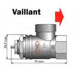 Mosazný adaptér termostatického ventilu Vaillant 700097 vhodný pro topné těleso