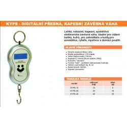 KYPS Jednoduchá tenzometrická kapesní závěsná váha 20 kg