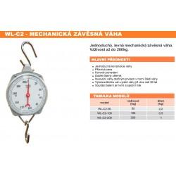 WL-C2-100 Mechanická závěsná váha 100 kg