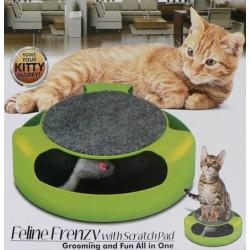Hutermann - Hračka pro kočky - myš v kruhu se škrábacím kobercem