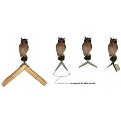 Trojrozměrná maketa dravce výr (kotvení na hřeben střechy)
