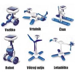 Solární stavebnice - hračka SolarBot modrý skládačka Robot SolarKit