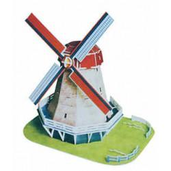 3D Puzzle skládačka Větrný mlýn z Holandska - střední