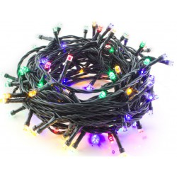 Hütermann Eastern Europe Division a.s. - Vánoční LED řetěz barevný 200LED venkov