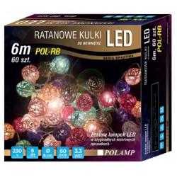 LED osvětlení vnitřní - ratan, multicolor, 6 m