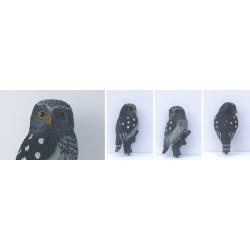 Trojrozměrná maketa dravce - sýček 23 cm