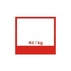 ŠTÍTEK 70X65 - KČ / KG