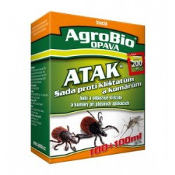 AgroBio OPAVA ATAK - Sada proti klíšťatům a komárům 50+50 ml účinně vypudí kl