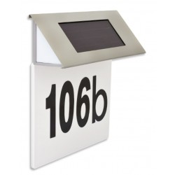 Domovní číslo se solárním LED osvětlením HARMONY, nerez