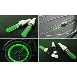 LED svítící ventilky na kolo zelené HARMONY