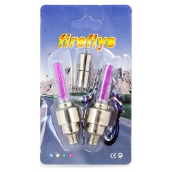LED svítící ventilky na kolo růžové HARMONY