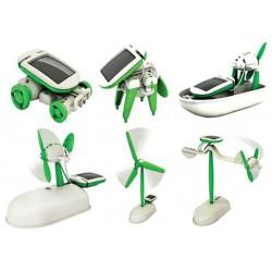 Hütermann Solární stavebnice - hračka SolarBot skládačka Robot SolarKit 6 v 1