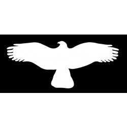 HARMONY  orel - bílá silueta dravce (samolepící fólie  - 325 mm)
