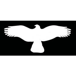 HARMONY orel - bílá silueta dravce (samolepící fólie - 500 mm)