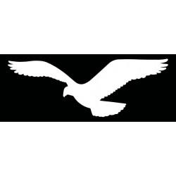 HARMONY sokol - bílá silueta dravce (samolepící fólie - 350 mm)