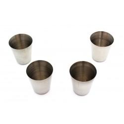 Harmony turistické štamprle, kovové sklenice 30 ml 4 kusy v pouzdře