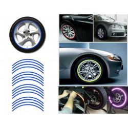 HARMONY reflexní modrá nálepka na kola velikosti 16 až 18 ´´