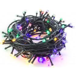 Hütermann Vánoční LED řetěz barevný 100LED 10 m, 8 funkcí, venkovní