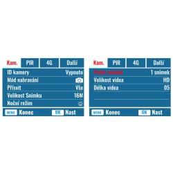 Fotopast OXE Panther 4G + 32 GB SD karta, SIM karta, 12 ks baterií +