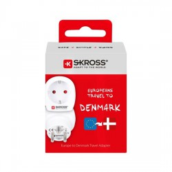 SKROSS cestovní adaptér pro použití v Dánsku