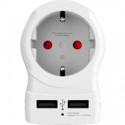 SKROSS cestovní adaptér UK USB pro použití ve Velké Británii, vč. 2x USB 2400mA