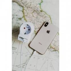SKROSS cestovní adaptér USA USB pro použití ve Spojených státech, vč. 2x USB 240