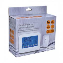 Solight meteostanice, velký dotykový barevný LCD, vnitřní/venkovní teplota +