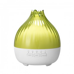 Hütermann S01 aroma difuzér zelená-bílá 350 ml - ultrazvukový, 7 barev LED, dálkové ovládání