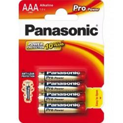 Baterie AAA (R03) alkalická PANASONIC Pro Power 4BP