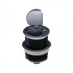 Solight USB vestavná zásuvka s víčkem