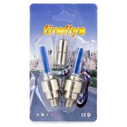 LED svítící ventilky na kolo modré HARMONY 2