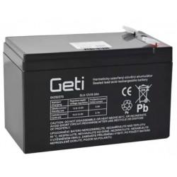 Baterie olověná 12V 9Ah Geti (konektor 6,35 mm)