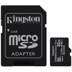 Paměťová karta KINGSTON SDCS/32GB micro SDHC 32GB CL10 s adaptérem
