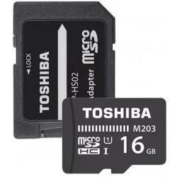 Karta paměťová TOSHIBA micro SD UHS-I 16 GB s adaptérem