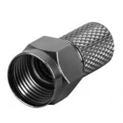 Konektor F HQ 7mm gum. kroužek, černý
