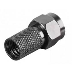 Konektor F HQ 7,2mm gum. kroužek, černý