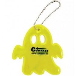 Reflexní přívěšek GHOST S.O.R. žlutý COMPASS 01599