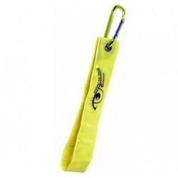 Reflexní přívěšek s karabinou S.O.R. žlutý COMPASS 01573