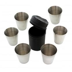 Harmony turistické štamprle, kovové sklenice 30 ml 6 kusů v pouzdře