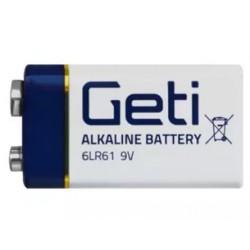 Baterie 9V (6LR61) alkalická Geti