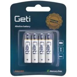 Baterie AAA (LR03) alkalická Geti 1,5V - 1 kus