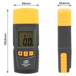 Měřič vlhkosti dřeva - vlhkoměr dřeva BENETECH GM605