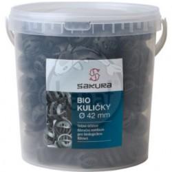 Biokuličky 42 mm - 10 l kyblík + sáček na filtrační média zdarma